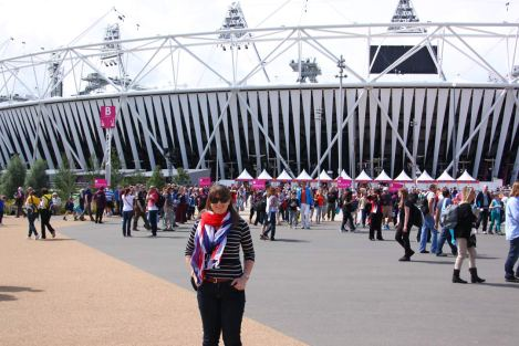 At the Olympic Stadium - the only time I could drag myself away from the TV coverage